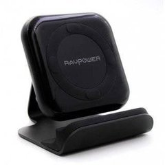 RavPower Wireless Fast Qi Charging Stand 10W Black+ Qc 3.0 Adapter (RP-PC070)