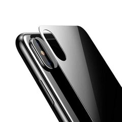 Стекло на заднюю крышку Baseus 0.3mm Silk-screen Back Glass Film для iPhone XS Max Black